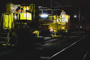 reportage photo chantier de nuit voies ferrées reportage de nuit BNF