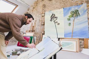 atelier du peintre Rémi Hamoir portrait corporate