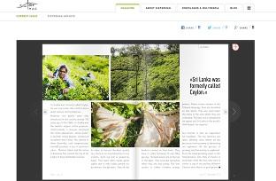 photographe voyage photos du Sri Lanka dans le dernier numéro de Sister Mag pour illustrer un article sur le thé - photographe corporate et d'illustration