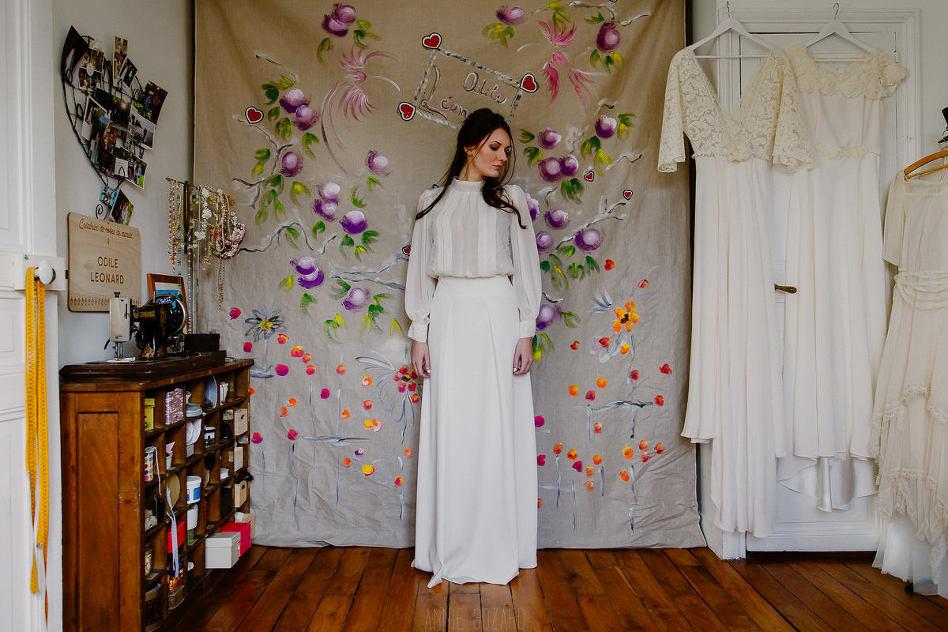 créatrice robes de mariage Odile Leonard